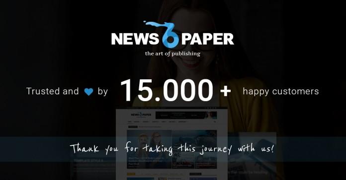 Newspaper theme milestone