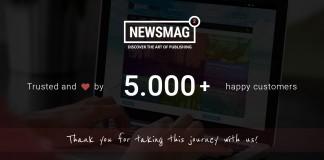 Newsmag Theme 5000 milestone