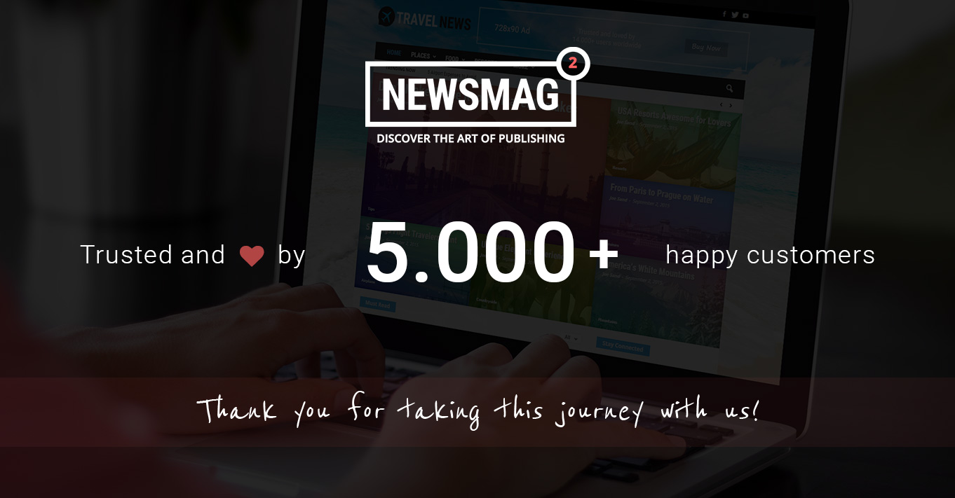 Happy Newsmag Day – The theme just reached the 5000 sales milestone!
