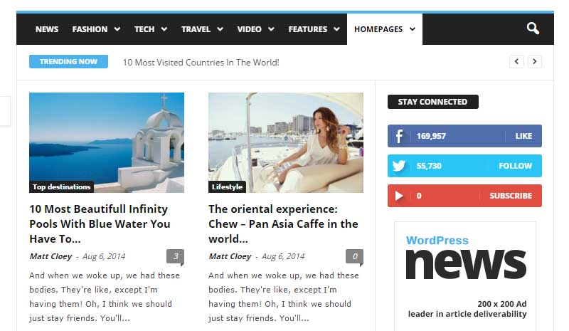 Newsmag Homepage Style