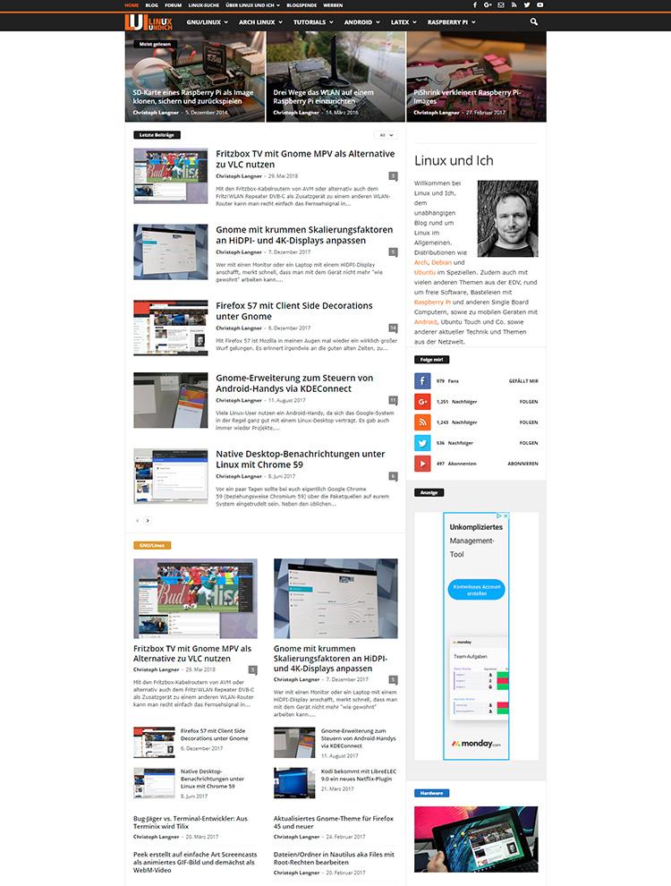 Newsmag Theme Showcase - Linux und Ich