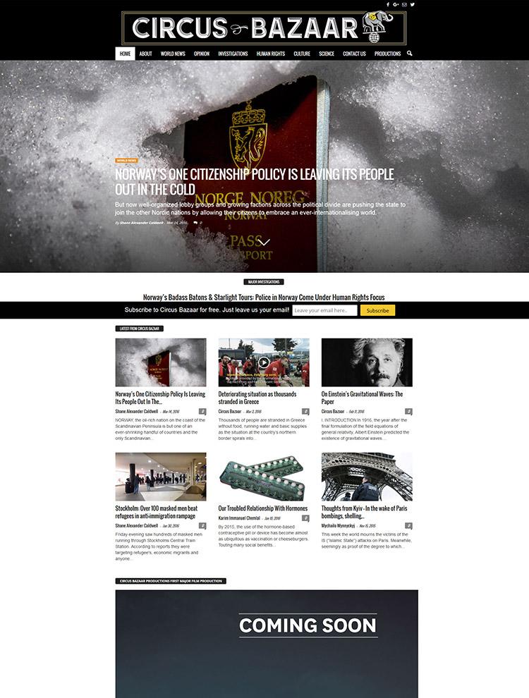 Newsmag Theme Showcase - Circus Bazaar