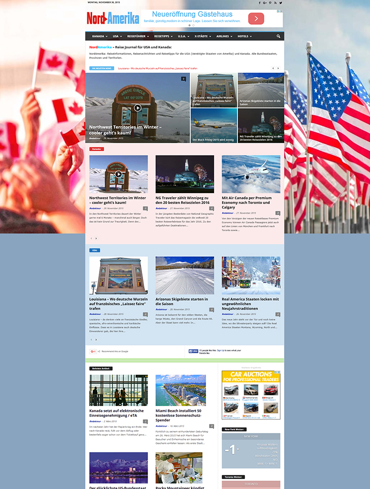 Newsmag Theme Showcase - Nord Amerika