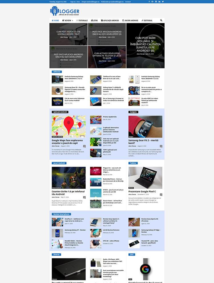 Newsmag Theme Showcase - Android Blogger