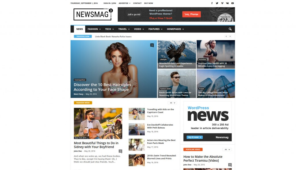 Newsmag theme 3