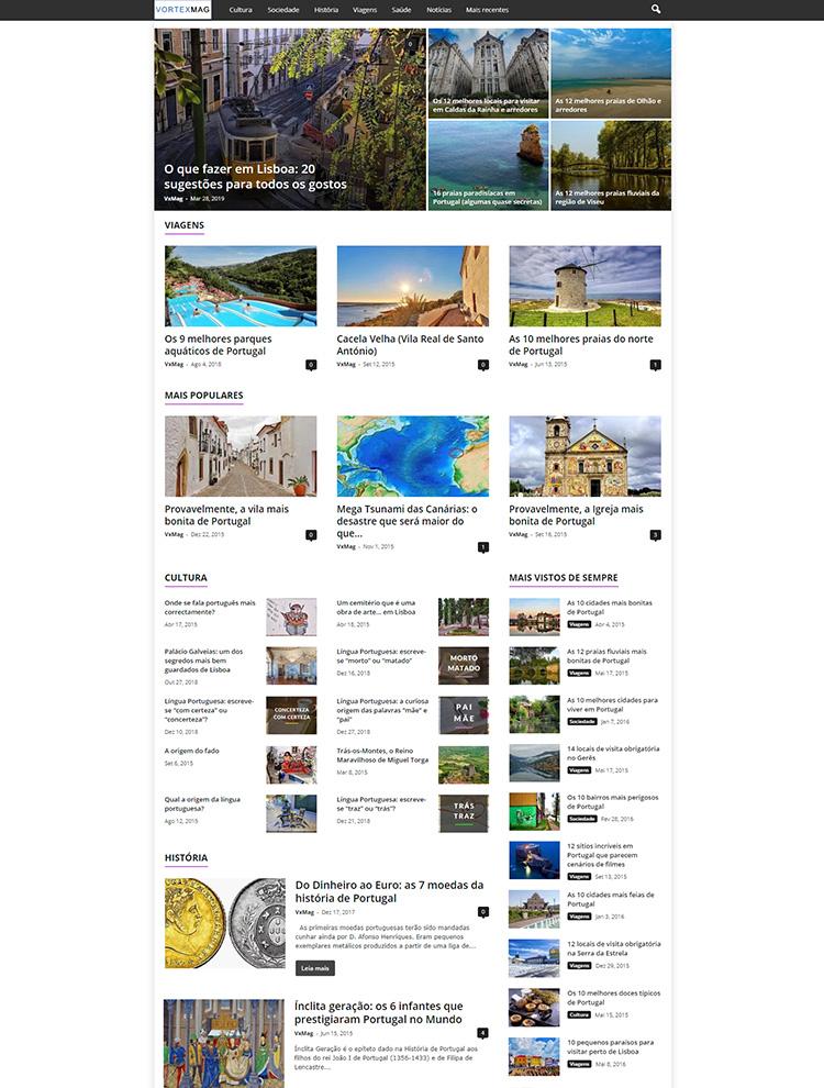 Newsmag Theme Showcase - Vortex Mag