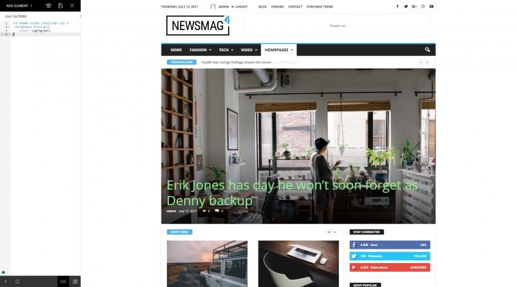 Newsmag 4 - Live CSS Editor