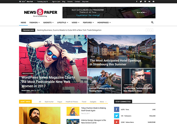 Newspaper Theme by tagDiv