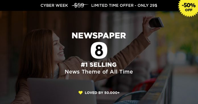 Newspaper Theme Envato Cyber Week