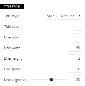 Call-to-action style settings