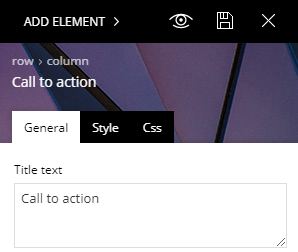Call-to-action settings