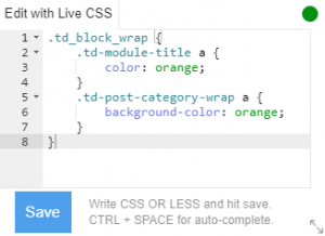 Live CSS box