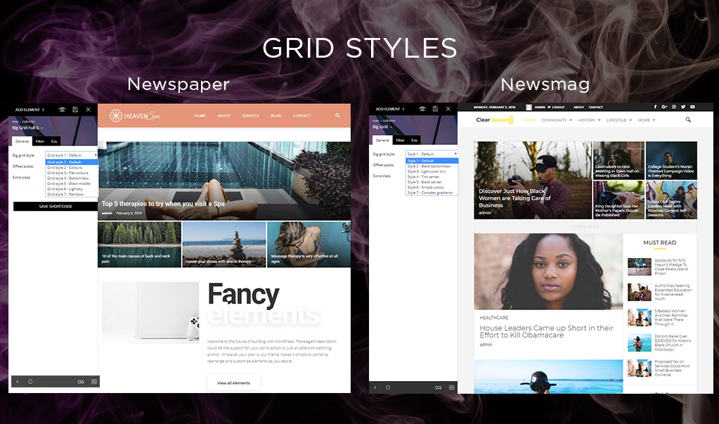 Newspaper and Newsmag Grid Styles