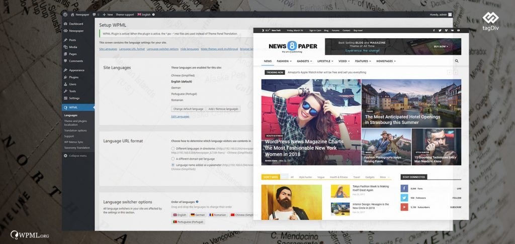 Compatibility: Newspaper Theme and WPML plugin