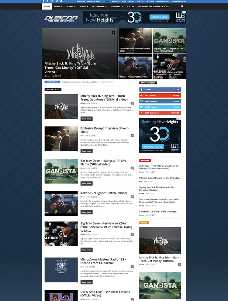 Newsmag WordPress Theme Showcase - DubCNN