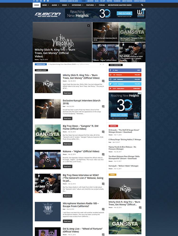 Newsmag WordPress Theme Showcase - DubCNN