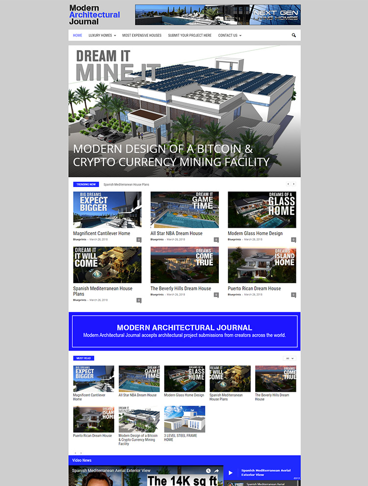 Newsmag WordPress Theme Showcase - Modern Architectural Journal
