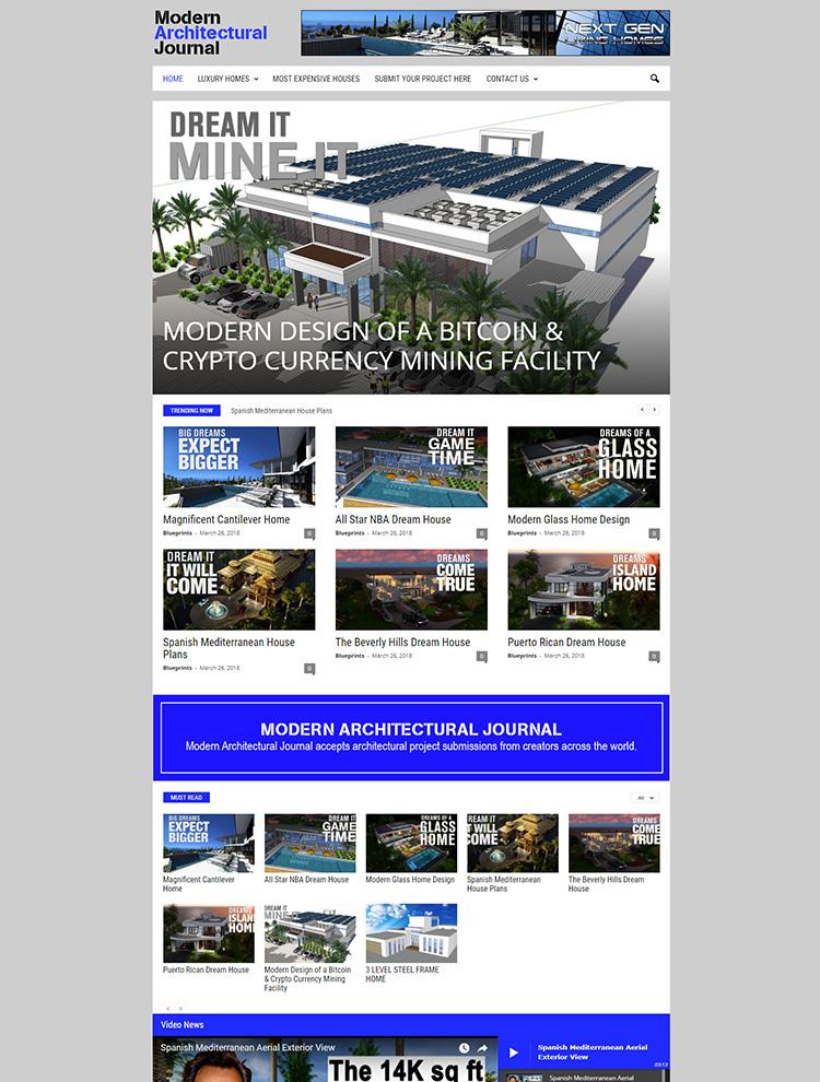 Newsmag WordPress Theme Showcase - Modern Architectural Journal