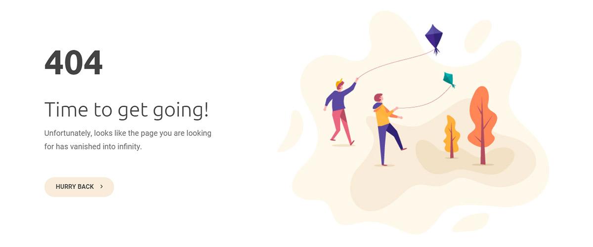 404 Page Templates Kite