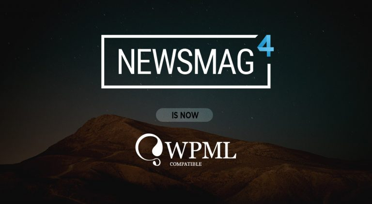 Newsmag theme is part of the big WPML family