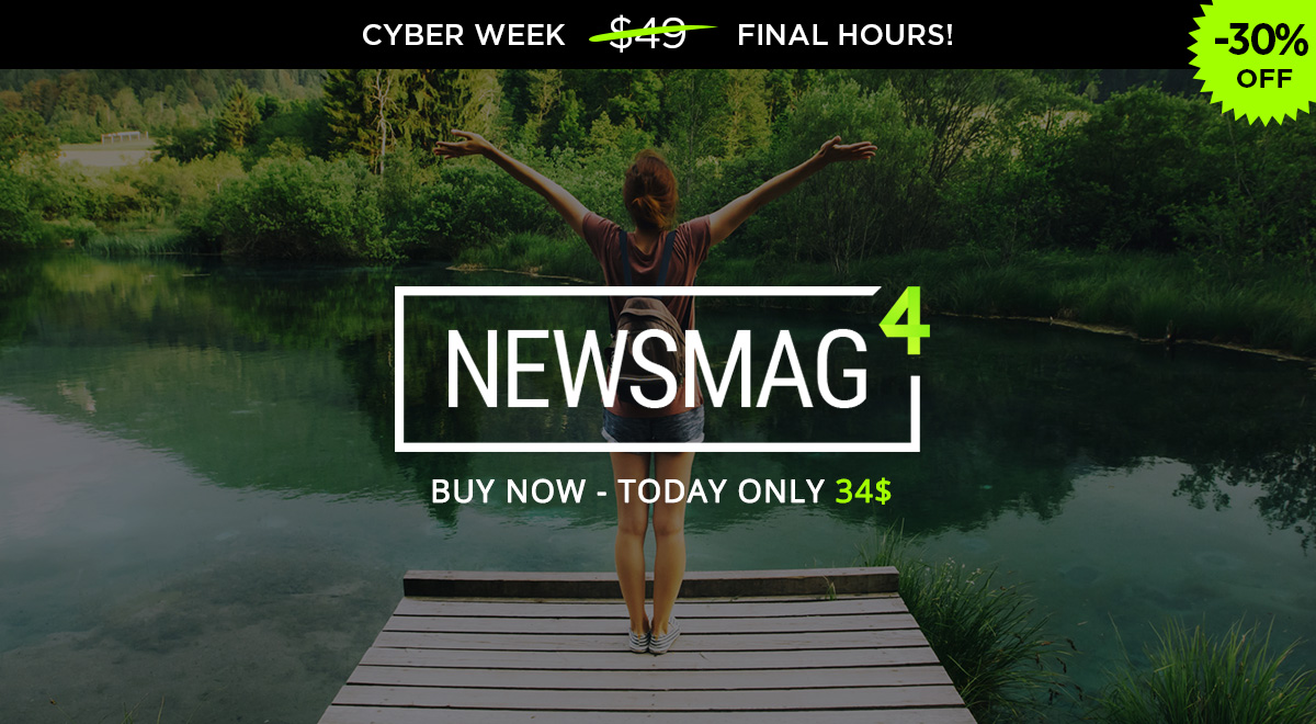 Cyber Monday Newsmag Theme Offer