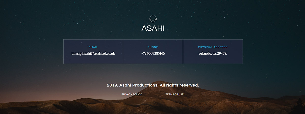 Footer with Newspaper Theme Asahi Productions