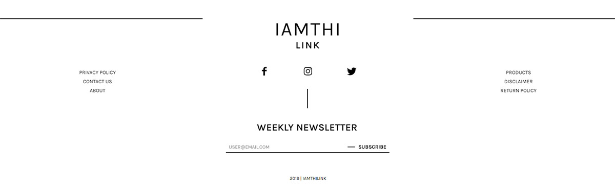 Footer with Newspaper Theme IamThiLink