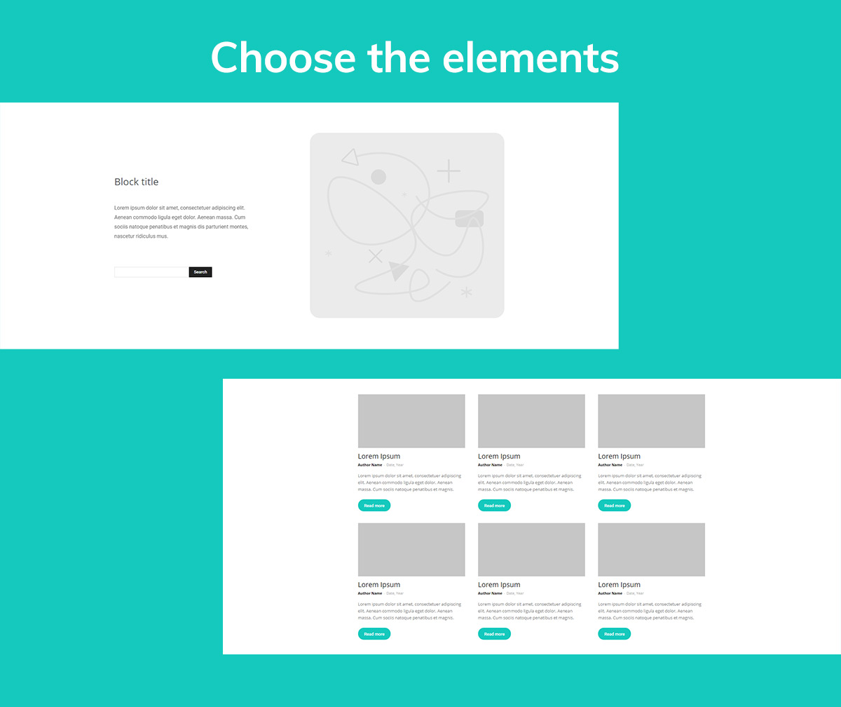 Choose Elements for your latest news page
