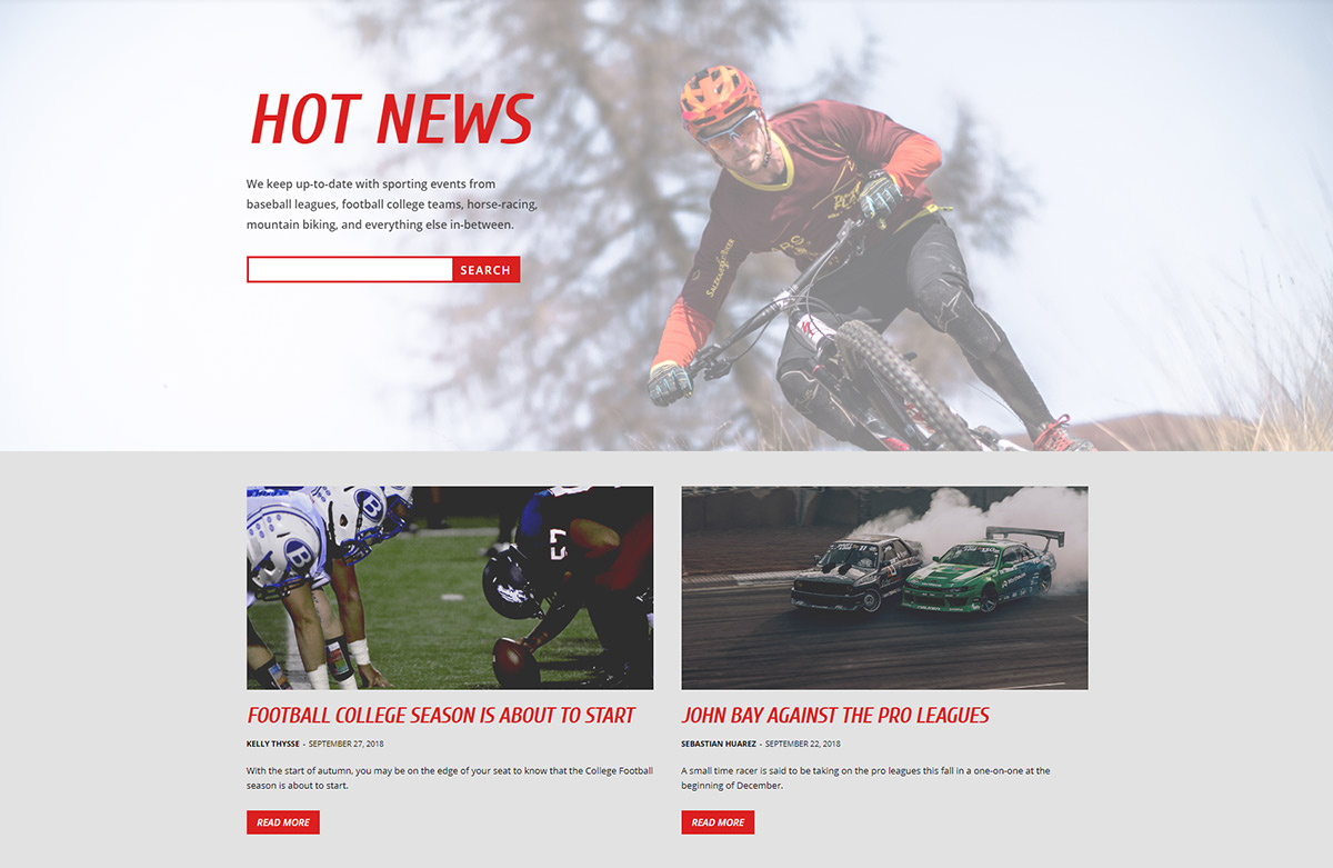 Sports Latest News Page