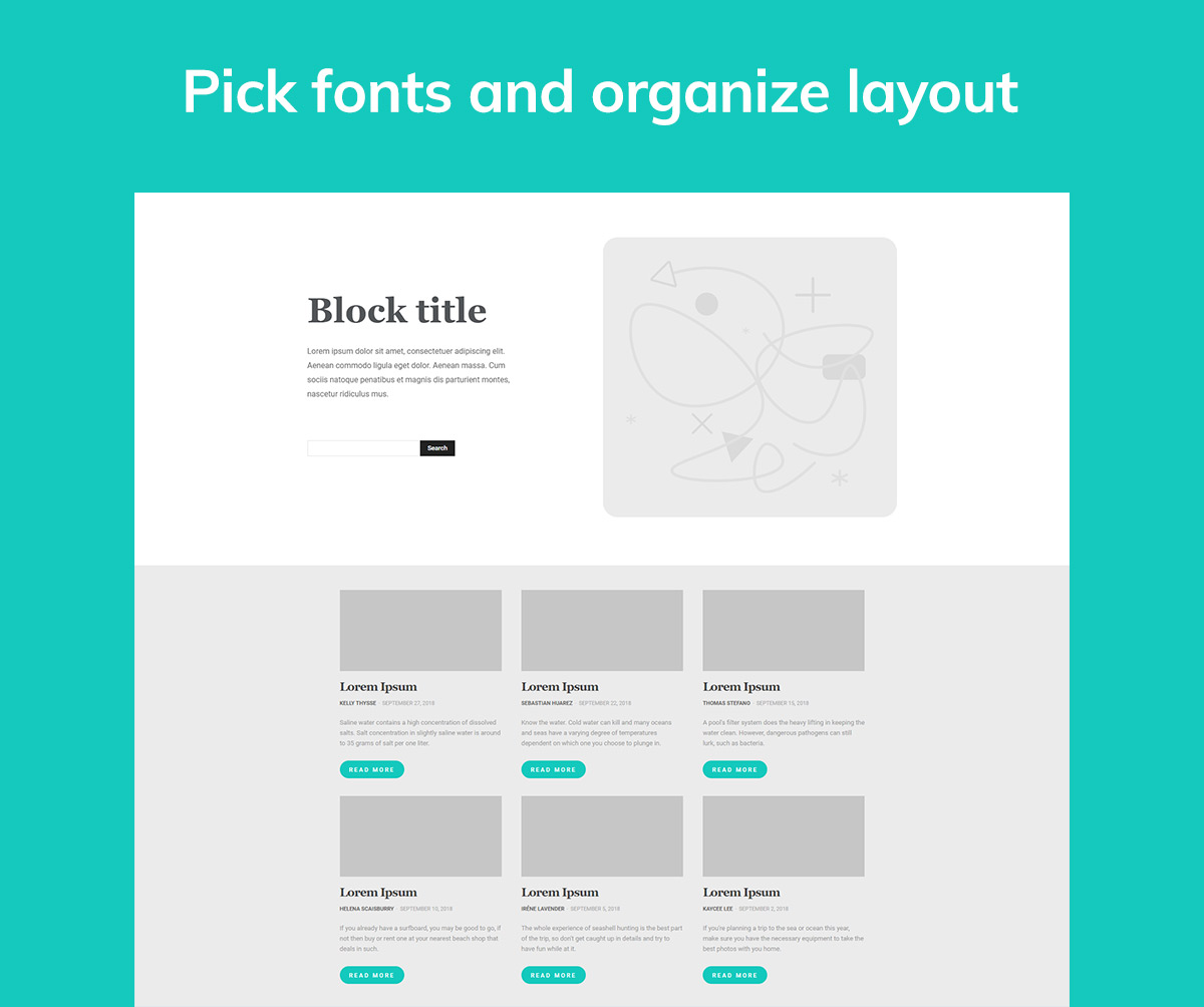 Pick fonts and layout Latest News Page