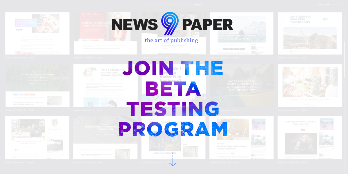 Become a tagDiv Beta Tester
