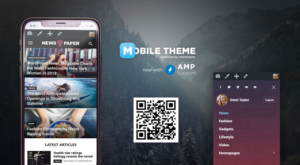 Mobile Theme with Amp Support