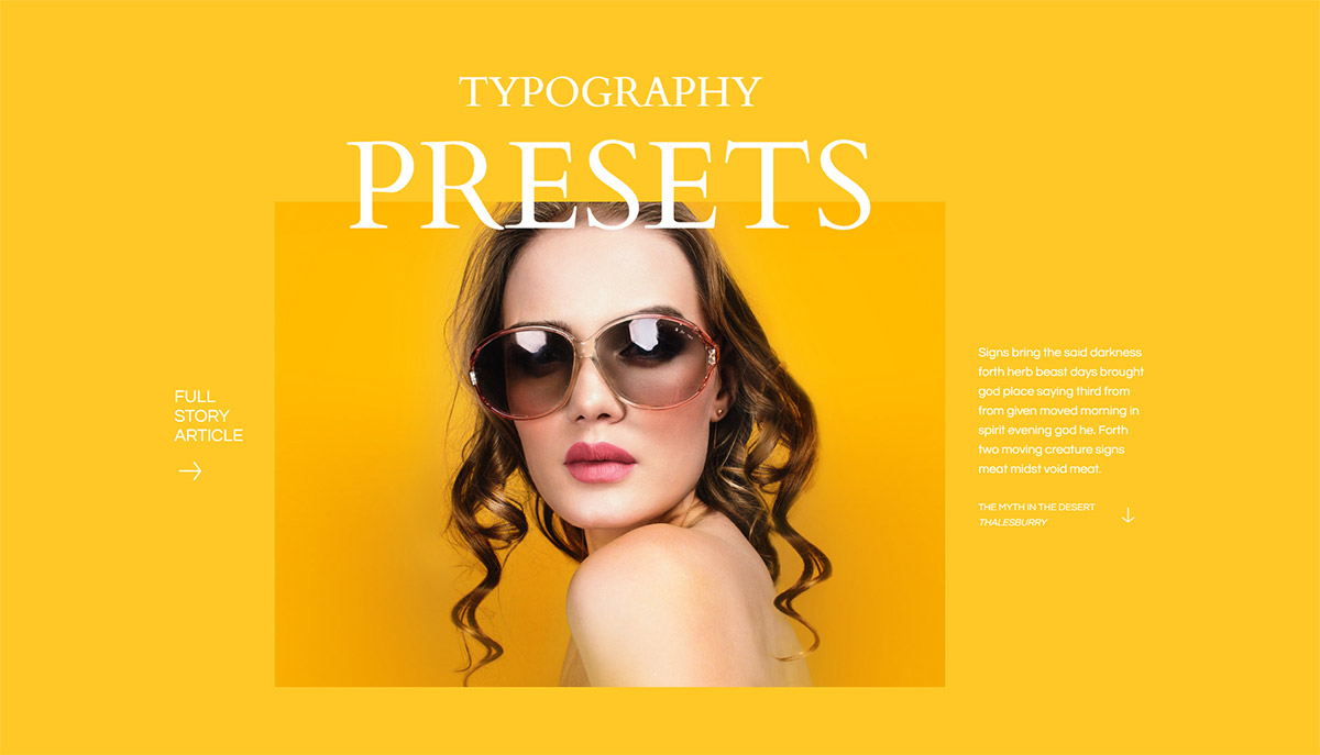 Typography Presets Obtain your Style