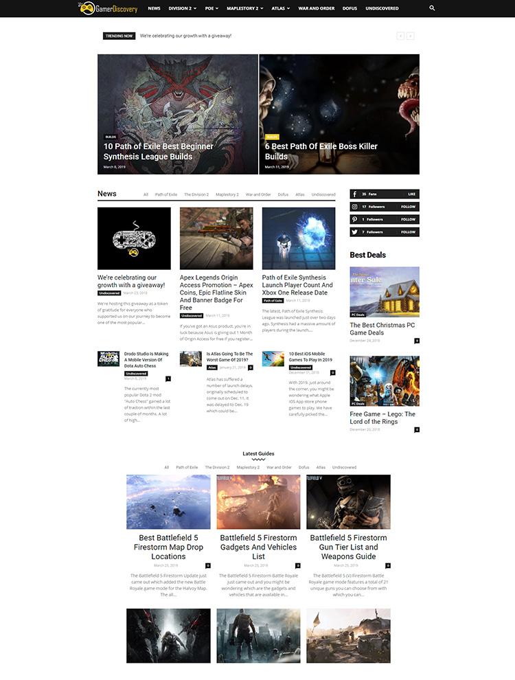 Newspaper Showcase - Gamer Discovery