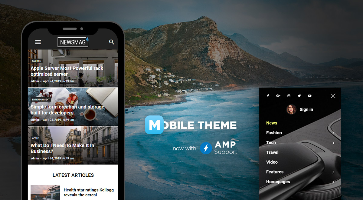 Newsmag Theme: Introducing Mobile theme