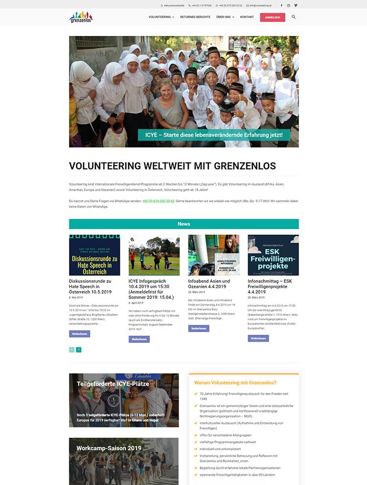 Newspaper Showcase - Grenzenlos Volunteering