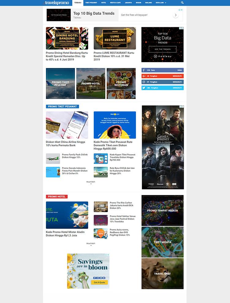 Newsmag WordPress Theme Showcase - Travels Promo