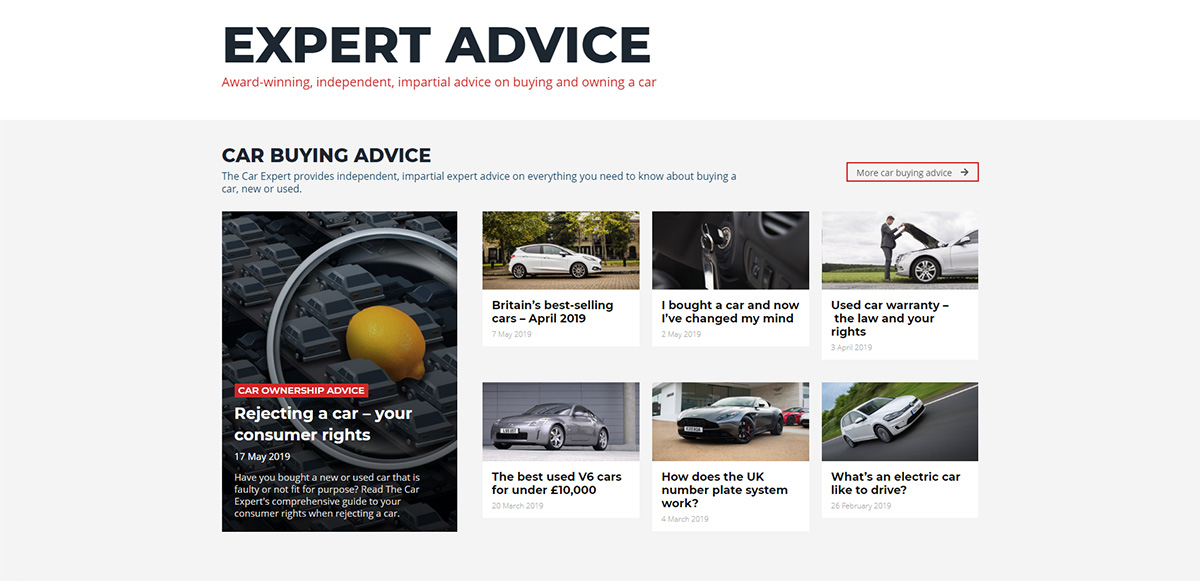 Newspaper Theme Case Study: The Car Expert Design