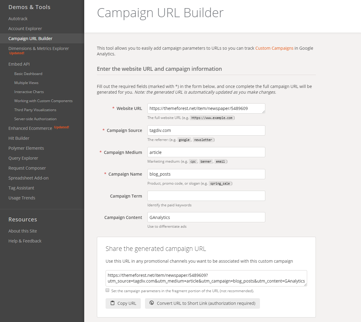 Analytics Campaign URL Builder: How to create a custom UTM Parameters