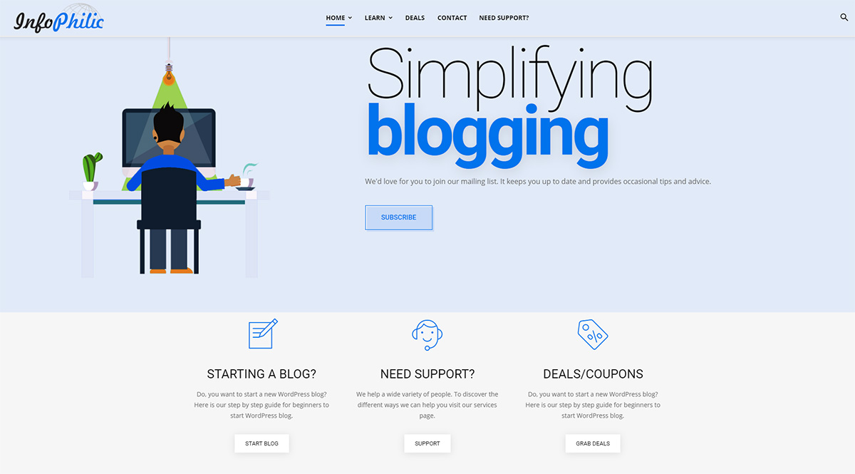 Newspaper Theme Customer Review: Infophilic Simplifying Blogging website