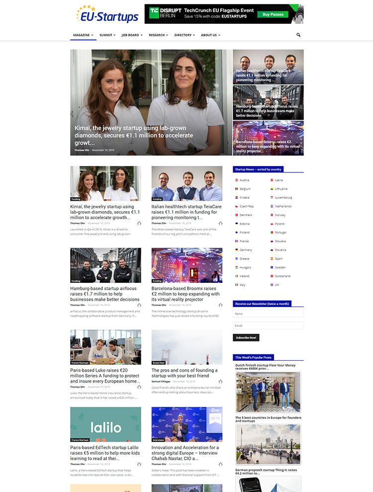 Newspaper Showcase - EU Startup