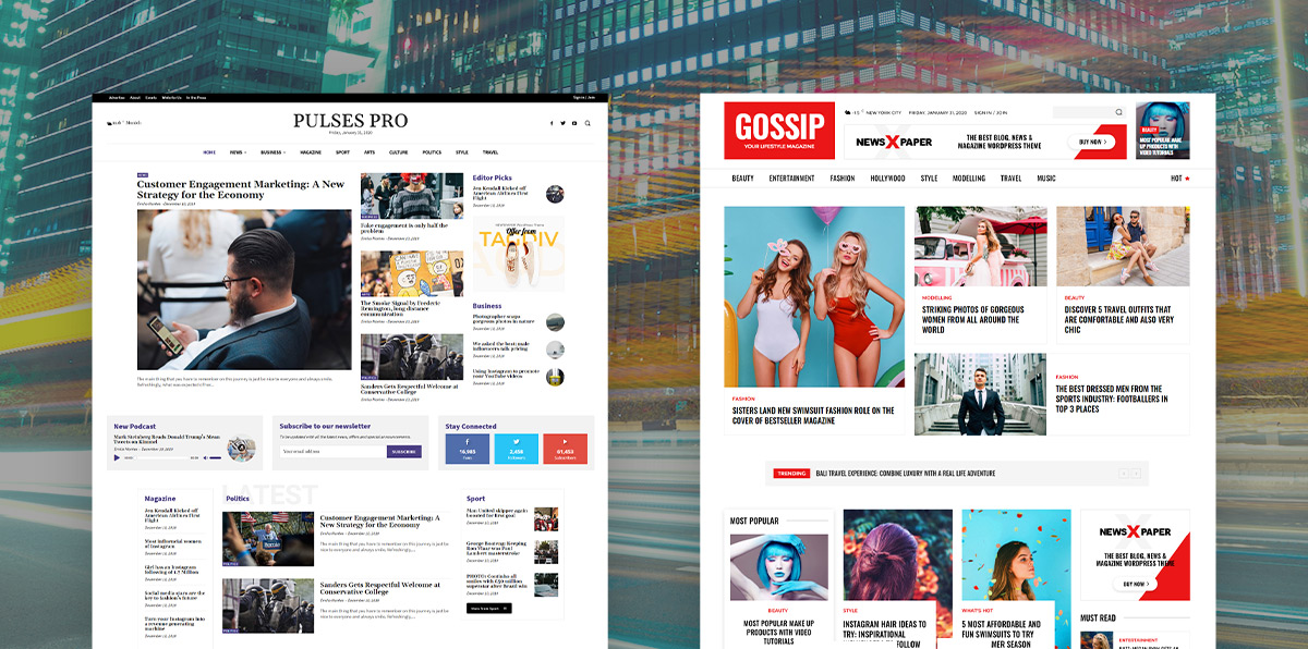 Gossip and Pulses Pro Demos tagDiv Newspaper Theme