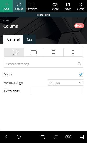 Make a sidebar Sticky by just checking the box: Smart Sidebar
