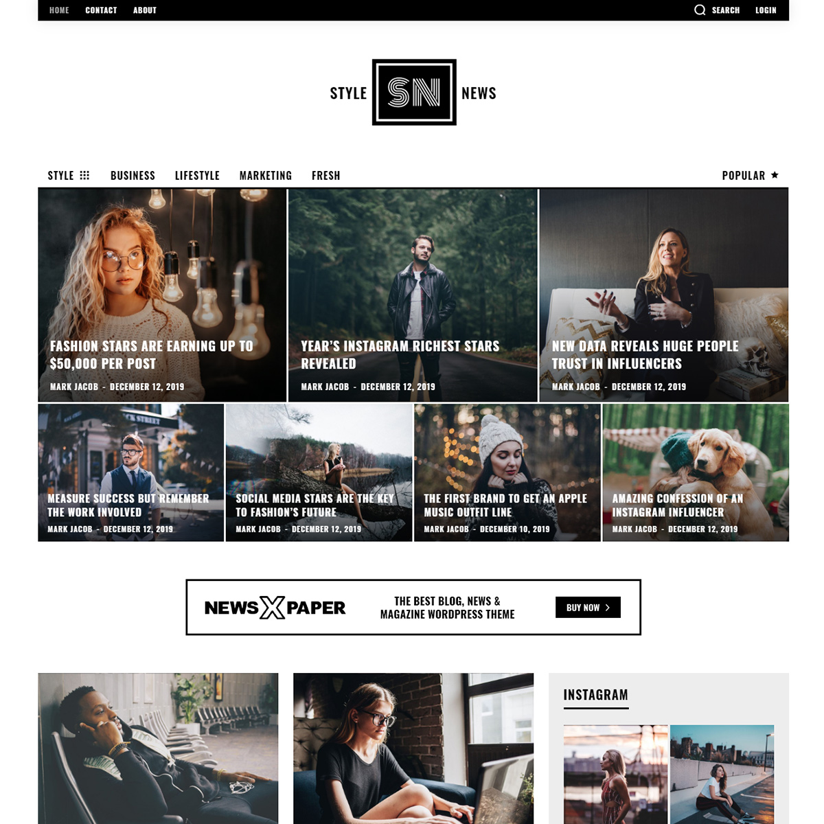 Style News Pro Demo tagDiv Newspaper Theme