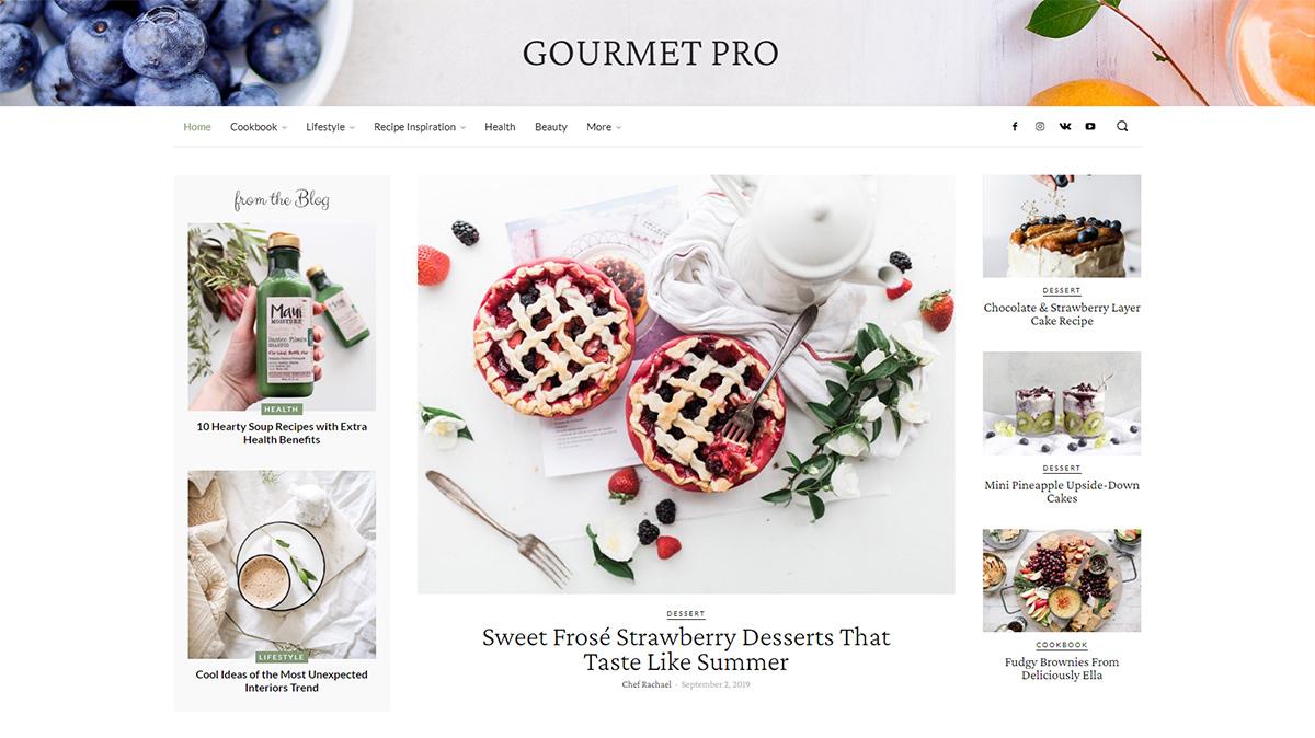 Homepage of Gourmet PRO