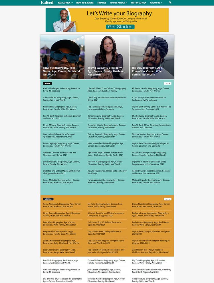 eafeed - Newsmag showcase