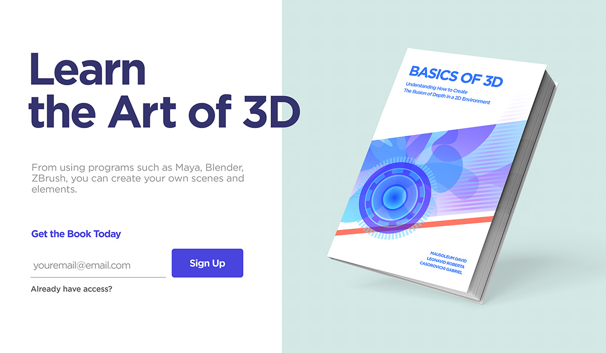 Create a product presentation with 3D element