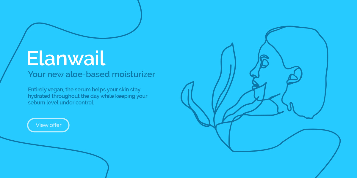 Entice customers to buy your product using thin line illustrations