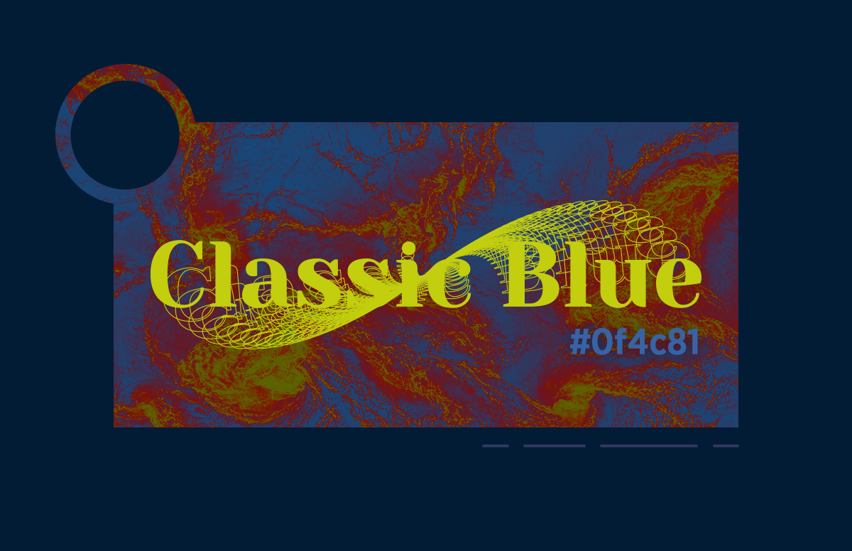 Create posters easily with triadic color palette classic blue