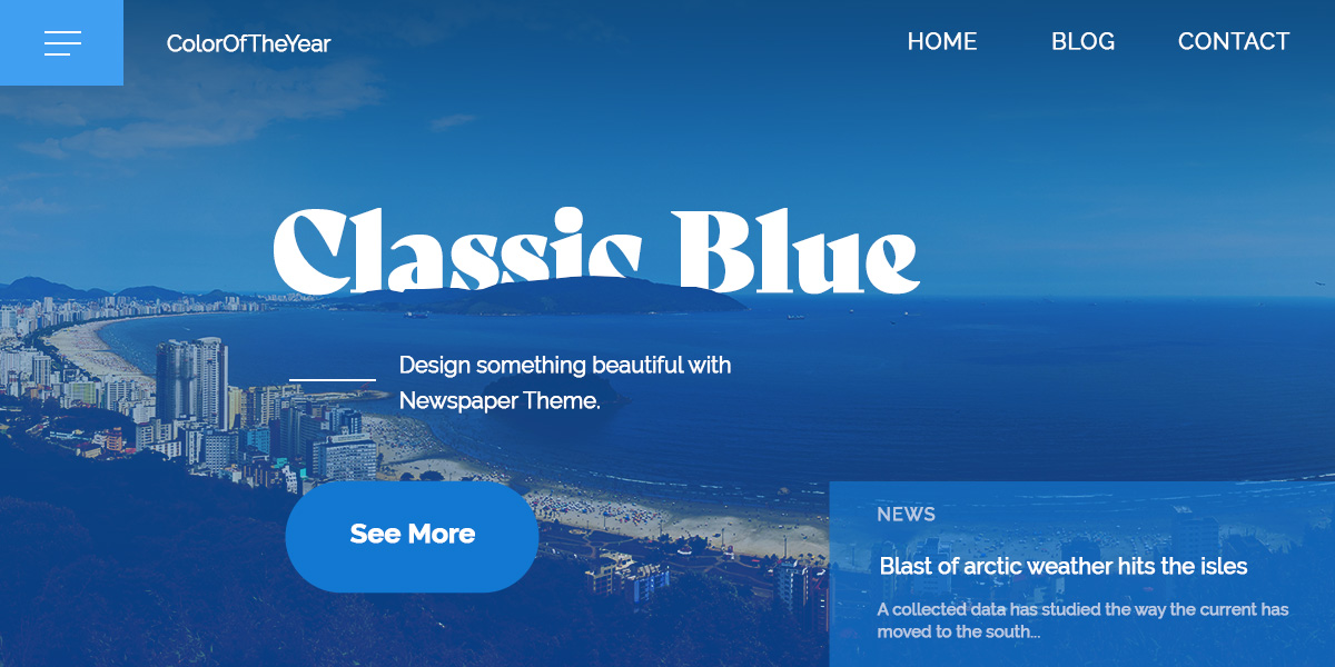Monochromatic color Scheme for Classic blue in a catchy web design